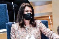 Ann Linde i riksdagens utrikesdebatt.