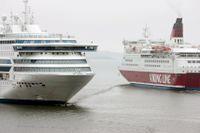 Viking Line har ställt in all persontrafik till Mariehamn men kommer att köra gods tre gånger i veckan. Arkivbild.