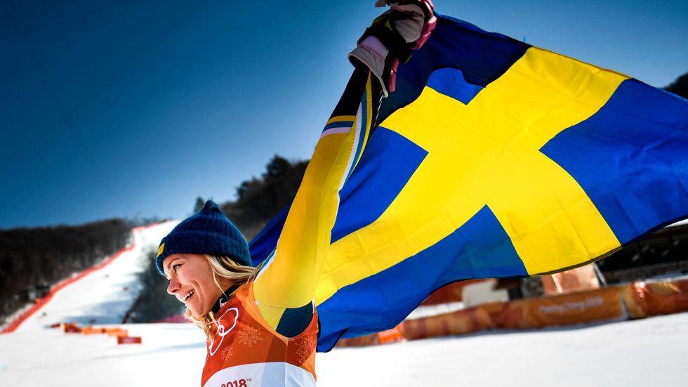 Frida Hansdotter tog Sveriges fjärde OS-guld i Pyeongchang.