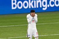 Jadon Sancho efter straffmissen mot Italien i EM-finalen på Wembley.