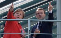 Angela Merkel och Emmanuel Macron.