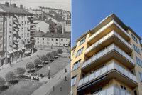 Bysistorget på 1940-talet – och i dag.