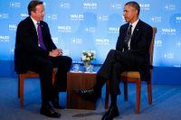 Storbritanniens premiärminister David Cameron och USA:s president Barack Obama på Natomötet i Wales.