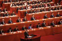 Kinas premiärminister Li Keqiang talar vid den årliga folkkongressen.