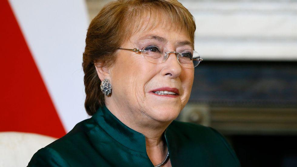 Chiles avgående president Michelle Bachelet. Arkivblid.