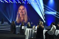 Linn Svahn fick ta emot priset som årets kvinnliga idrottare via länk.