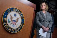 Demokraten Nancy Pelosi, talman i det demokratstyrda representanthuset, tros snart kunna ta initiativ till en omröstning om ett nytt nordamerikanskt handelsavtal. Bilden togs i fredags.