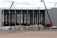 Tesla bygger en ny fabrik i närheten av Berlin. Bilden tagen i början av september.