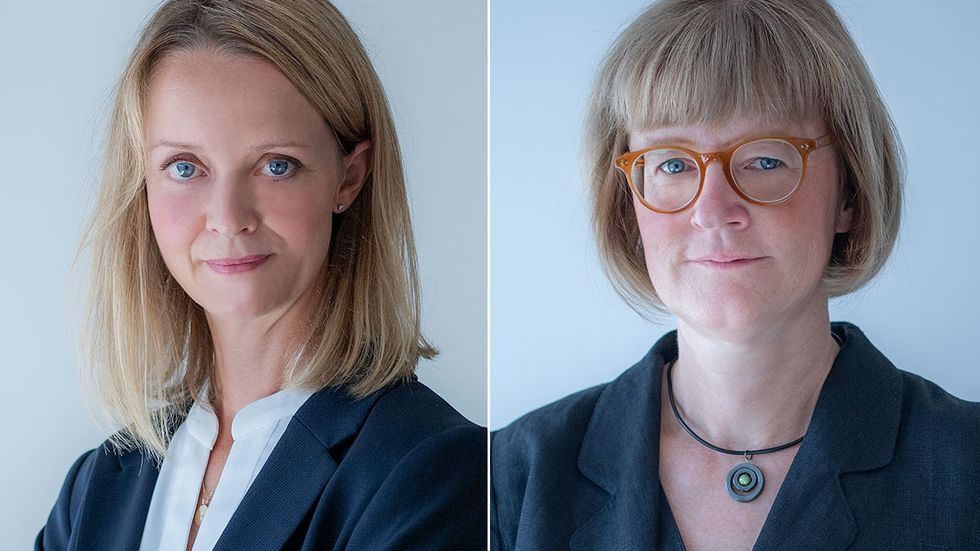 Sabina Joyau och Karin Liljeblad.
