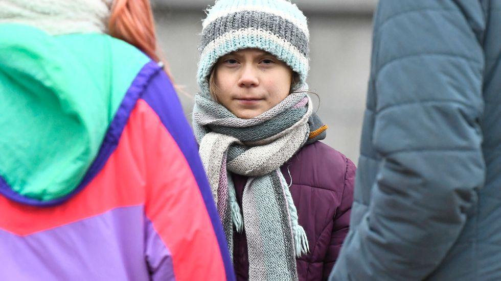 Den svenska klimataktivisten Greta Thunberg. Arkivbild.
