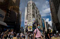 En gatubild från Hongkong, den 27 juli.