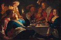 """""""Den förlorade sonen"""", målning av Gerard van Honthorst, 1623."""