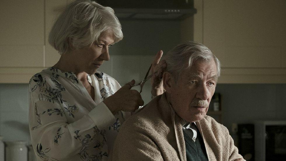"""Helen Mirren och Ian McKellen  i """"The good liar""""."""