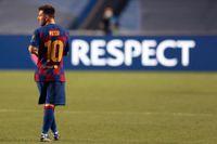 Barcelonas Lionel Messi vill lägga ner stridsyxan. Arkivbild.