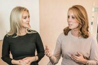 Annie Lööf möter kvinnliga företagare, bland annat Isabella Löwengrip.