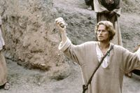 "Willem Dafoe som Jesus i Martin Scorseses ""Kristi sista frestelse"" från 1988."