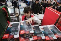 Nintendo, med den nya konsolen Switch, går upp på Tokyobörsen.