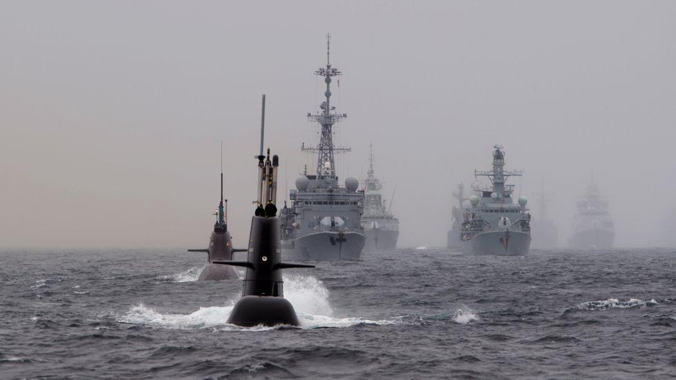 Bild från en annan militärövning till havs. Arkivbild.
