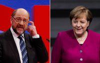 SPD-ledaren Martin Schulz fick till slut med sig partikollegerna på att förhandla med Angela Merkels CDU och systerpartiet CSU.