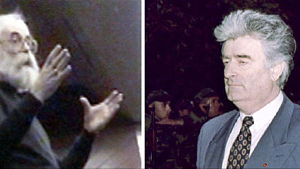 Radovan Karadzic nu och då.