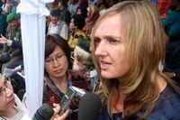 De anhörigas ombud Liesbeth Zegveld beklagar att den nederländska staten inte varit mer tillmötesgående. Arkivbild.