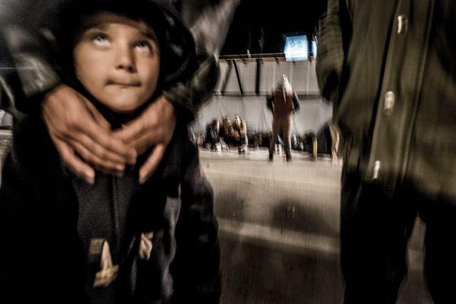 Rhodan i flyktinglägret på Samos.