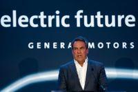 Mark Reuss, styrelseordförande i General Motors stakade ut vägen mot el i fjol. Arkivbild.