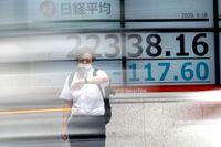 Tokyos Nikkei225-index. Arkivbild.