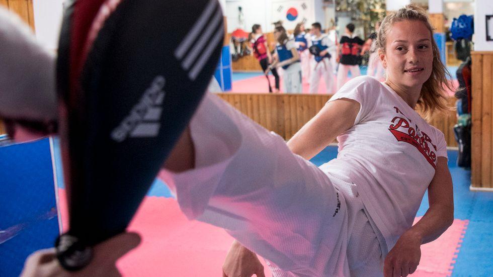 Taekwondostjärnan Nikita Glasnovic, 22, tog VM-brons i Sydkorea. Arkivbild.