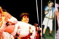 Bilder på superstjärnan Madonna tagna av, från vänster, fotograferna Paul Natkin, Bob Gruen och Lynn Goldsmith.