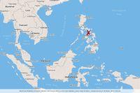 Jordskalv utanför Filippinerna