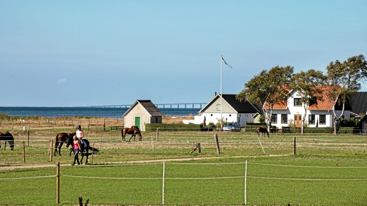 Skanör, Falsterbo och Höllviken skulle dränkas vid en havsnivåhöjning på en meter.