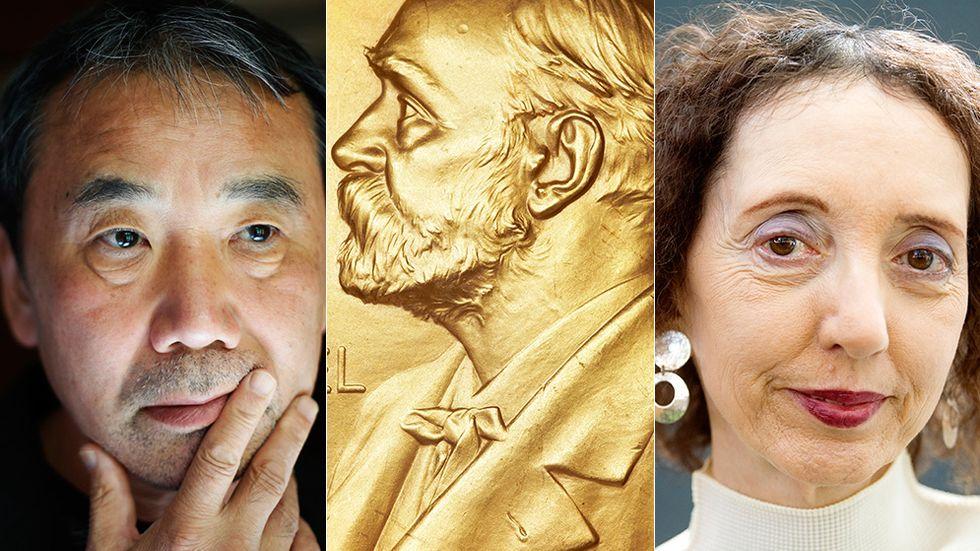 Haruki Murakami och Joyce Carol Oates är några av förhandsfavoriterna.