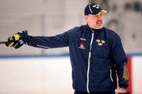 Före detta Förbundskapten Rickard Grönborg tror att ishockey-VM i Schweiz kommer att ställas in. Arkivbild.