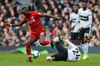 Saido Mané (till vänster) gjorde mål och ordnade straff i Liverpools seger mot Fulham.