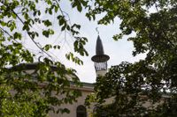 Stockholms moské vid Björns trädgård i Stockholm. Arkivbild.