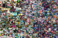 """Konstnären Beeples verk """"Everydays: The first 5000 days"""". Verket är beskuret."""