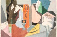 """André Lhote, """"Stilleben"""", odaterat. Akvarell och blyerts."""