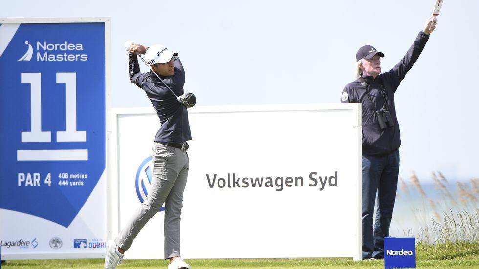 Joakim Lagergren spelar bra golf. Arkivbild.