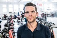 Voi:s vd Fredrik Hjelm på kontoret och verkstaden i Stadshagen.