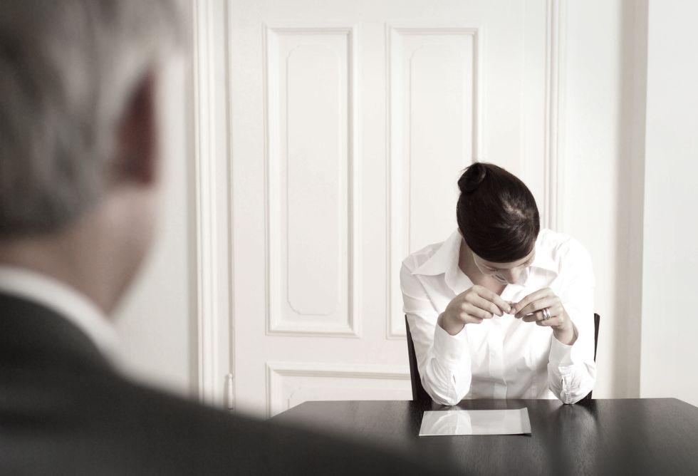 Stressad av att inte få fram  personligheten och kompetensen på intervju med främmande människor.