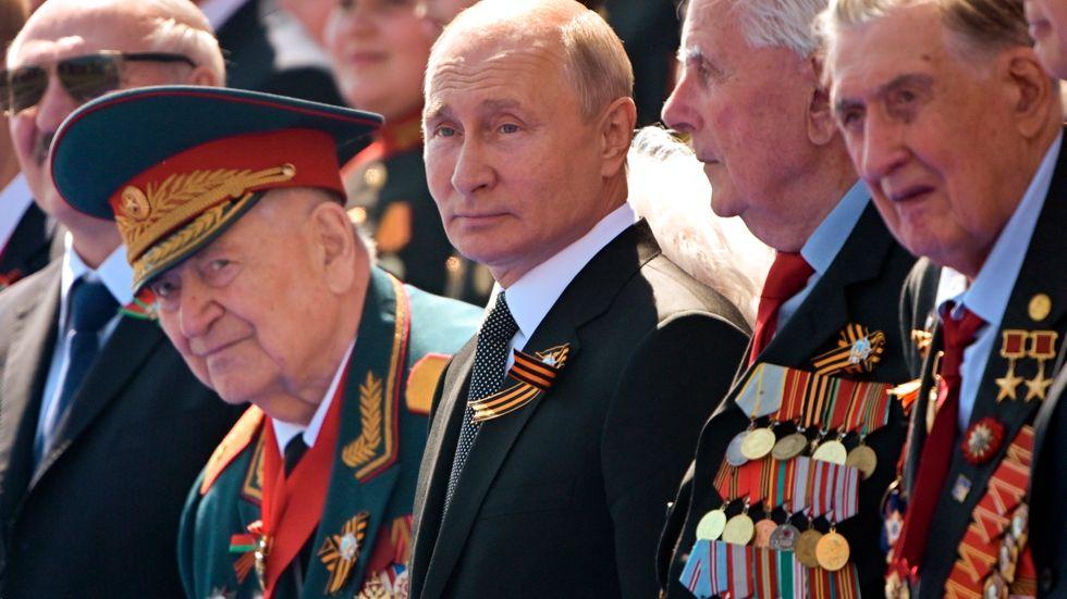 2020. President Putin under firandet av 75-årsdagen av segern över nazisterna.