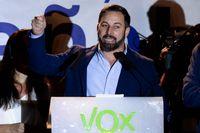 Santiago Abascal är partiledare för högerextrema spanska partiet Vox. Arkivfoto.