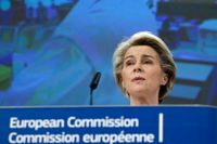 EU-kommissionens ordförande Ursula von der Leyen har kritiserats för sin hantering av coronapandemin, men anser fortsatt att kommissionen agerat på rätt sätt. Arkivbild.