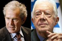 George W Bush och Jimmy Carter.