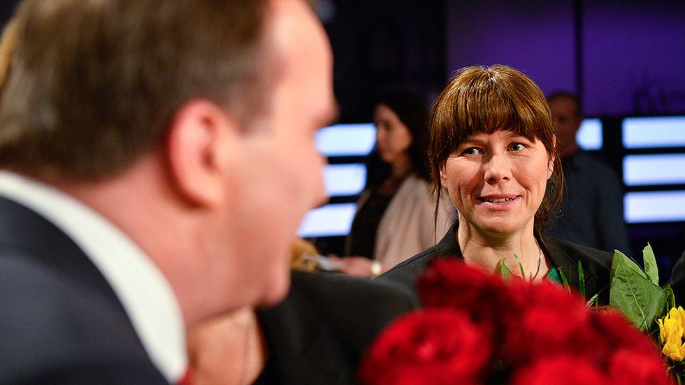 Statsminister Stefan Löfven och vice statsminister Åsa Romson.