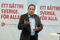 S-ledaren Stefan Löfven gav inget besked om huruvida en S-ledd regering kommer att avsluta det kritiserade samarbetet med Saudiarabien när han frågades ut i Sveriges Radio. Avtalet ska omförhandlas nästa år.