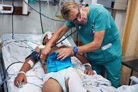 Överläkaren Mads Gilbert, som vanligtvis arbetar på Universitetssjukhuset i Tromsø, är nu på Al-Shifa-sjukhuset i Gaza.