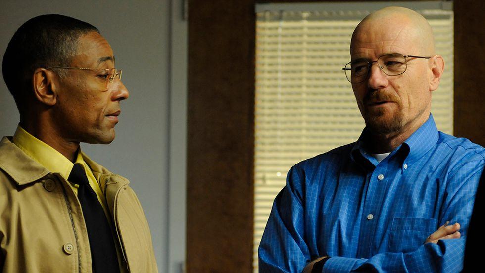 Gus Fring (Giancarlo Esposito) och Walter White (Bryan Cranston) förstår vikten av ett bra första intryck.