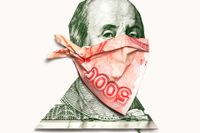 """Omslagsbild till Oliver Bulloughs bok """"Moneyland: Why thieves and crooks now rule the world & how to take it back""""."""